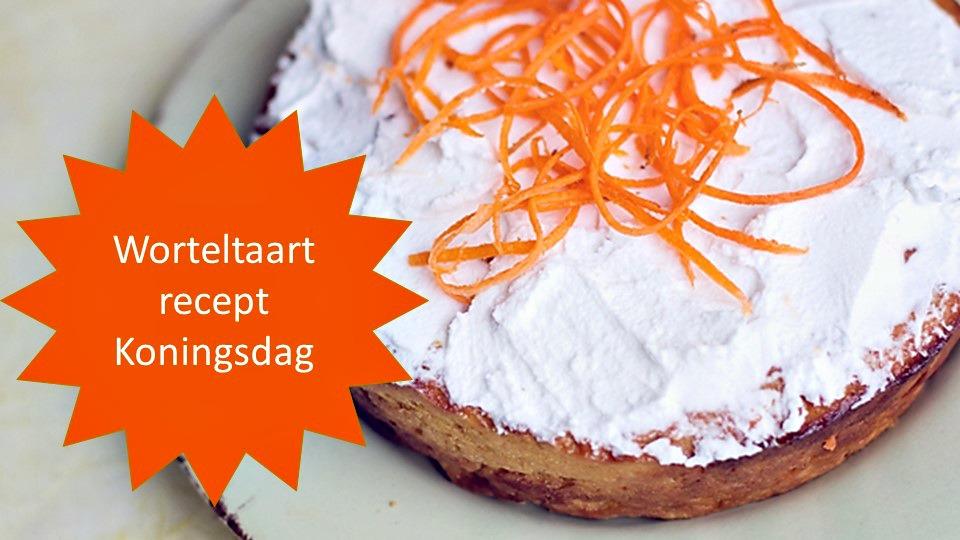Oranje worteltaart met sinaasappeltopping